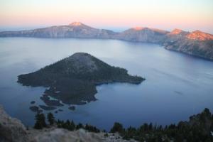 Sunset on Wizard Island