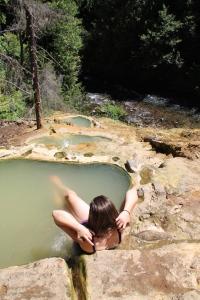 Sarah at the hot springs